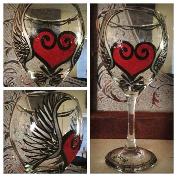 187 best Hand Painted Glasses images on Pinterest | Decorated ...