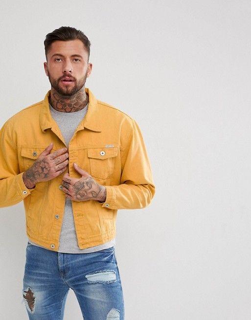 Liquor N Poker Oversized Denim Jacket Mustard Ootds Oversized