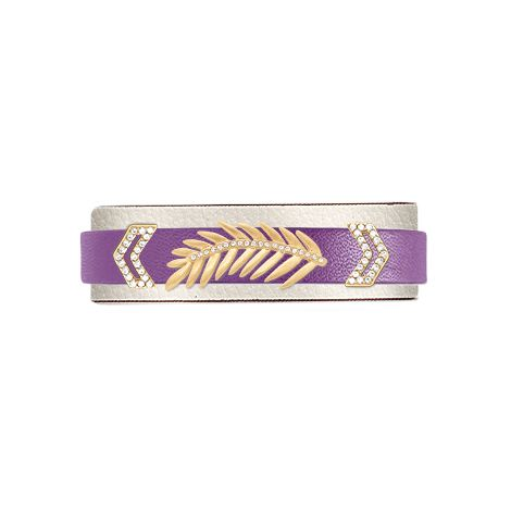 KEEP Collective with Whitney Johnson leaf purple bling