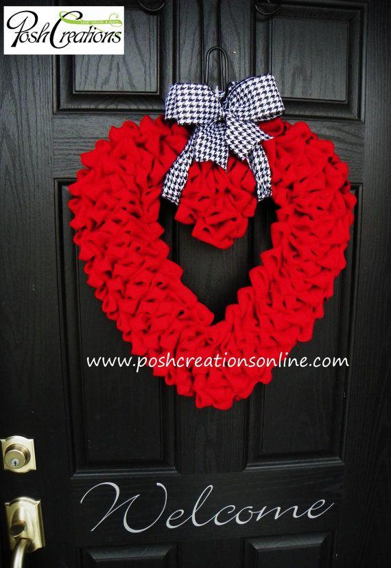 Heart Wreath Love Wreath Heart Valentines Wreath Burlap
