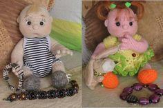 Preciosos bebés tejidos en la técnica amigurumi, patrón completo en español. Puedes tejer tanto el niño o la niña con el mismo patrón, solo has de cambiar la ropa pelo y complementos según quieras …