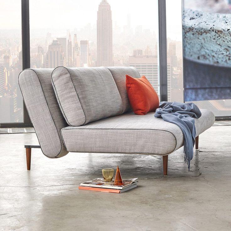 Divano letto Unfurl Lounger design scandinavo 140x200 cm