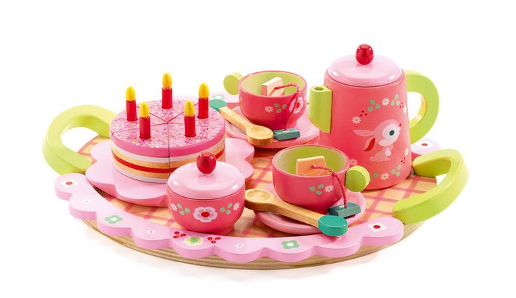 Lilii Rose Tea Party Serve up a slice of birthday cake with a pot of tea and enjoy an afternoon tea event with this adorable tea party set. This creative role playing game is suitable for children aged 4 years and older.  Product Dimensions 25cm L x 8cm H x 29cm W