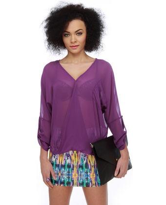 Sheer Purple Top from Lulus