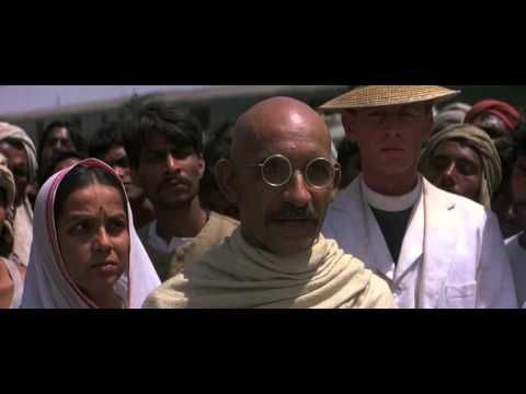 Gandhi is a very inspiring 1982 biographical film of the life of Mahatma Gandhi, an Indian lawyer & activist who was a leader of the nation's non-violent, non-cooperative independence movement against the UK's rule of the country during the 20th century. It covers Gandhi's life from a defining moment in 1893, as he is thrown off a South African train for being in a whites-only compartment. The film won 8 Academy Awards, including Best Picture, Best Director& Best Actor  (Full film is here)