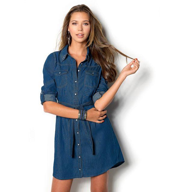 Modelos de vestidos casuales jean