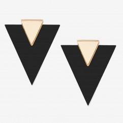 Altın Ayna Üçgen Küpe - #tasarim #tarz #altin #rengi #moda #nishmoda #gold #colored #design #designer #fashion #trend