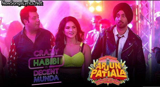 Crazy Habibi Vs Decent Munda Song Lyrics Arjun Patiala Guru Randhawa Songs Song Lyrics Love Songs