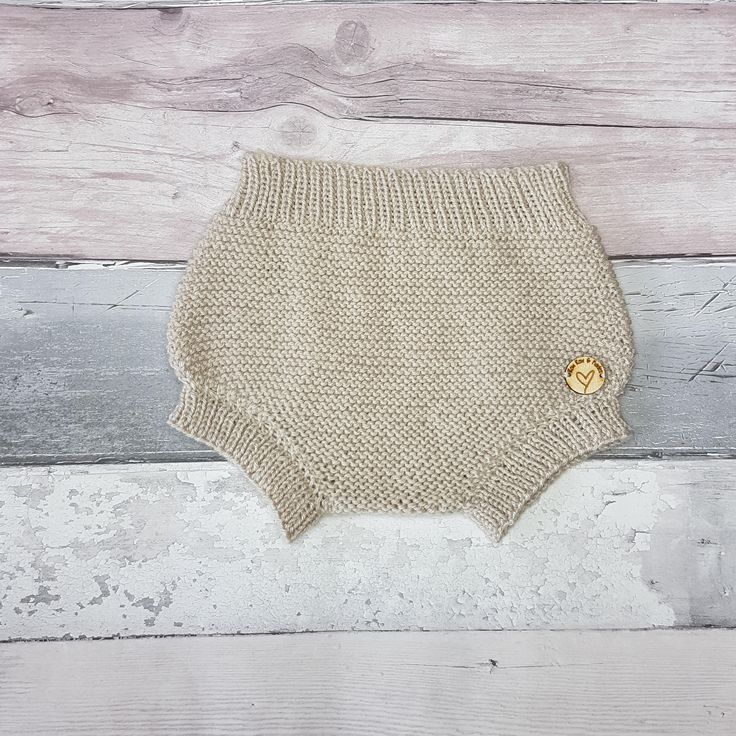 Ready to Ship Newborn | Nappy Cover | Baby Bloomers | Knitted Diaper Cover | Cream Baby Pants | Baby Knickers | Gender Neutral Photo Prop
