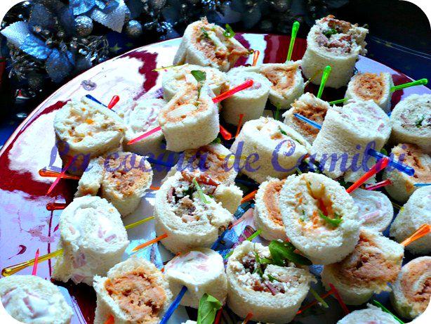 La cocina de camilni minis rollitos variados recetas - Aperitivos para baby shower ...