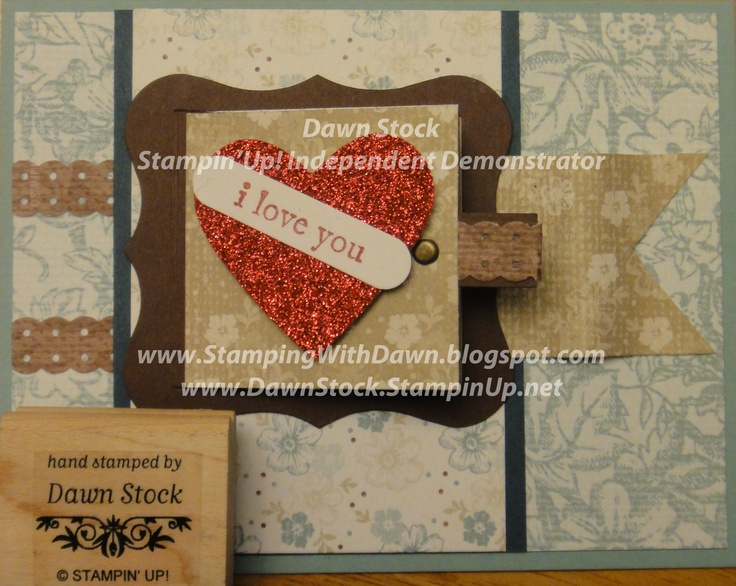 Using Stampin'Up!'s Peek-a-Boo Sizzix die. And there is a secret message behind it!