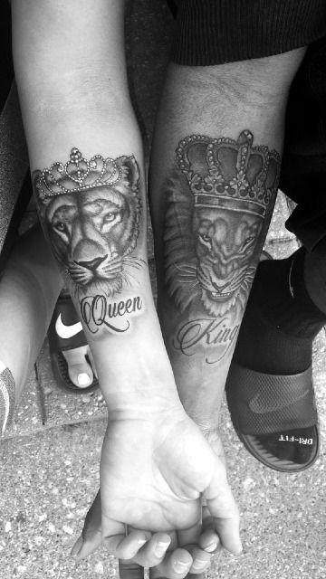 Fuerza Determinante En Tatuajes De Leones Para Parejas Art I Want