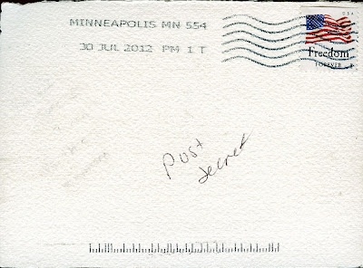 We sometimes have problems getting our mail with the correct address and PostSecret gets their mail with NO address! I am jealous.