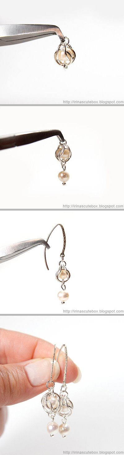 http://irinascutebox.blogspot.com/2012/09/dangle-earrings-with-pearls.html Tutorial how to make dangling earrings with pearl