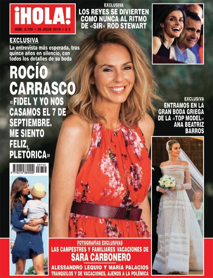 Exclusiva en ¡HOLA!, Rocío Carrasco: 'Fidel y yo nos casamos el siete de septiembre. Me siento feliz, pletórica'