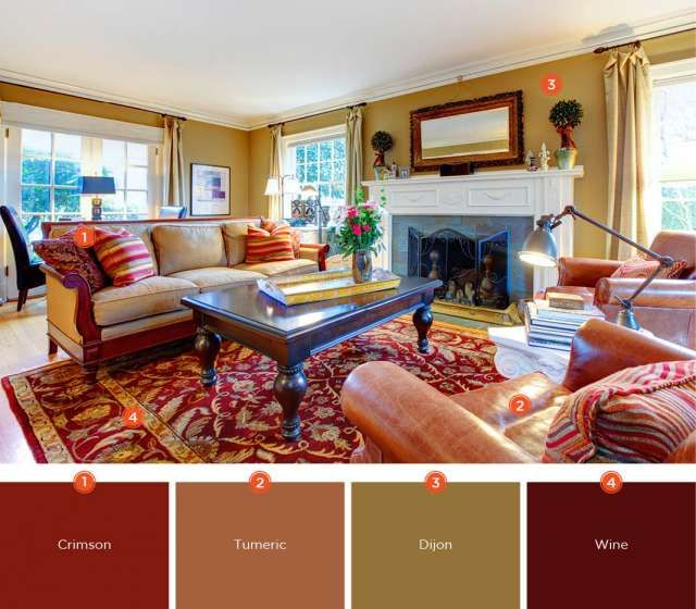 Romantic Color Scheme For Living Room Warm Colors And Inviting
