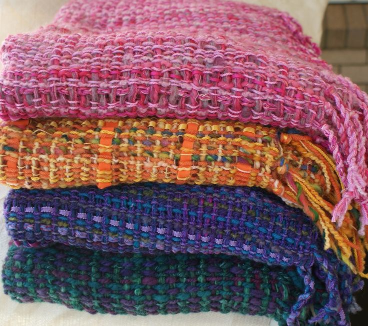 """Plans For Rag Rug Loom: These Throw Rugs Have Been Woven On The Ashford 48""""/120cm"""