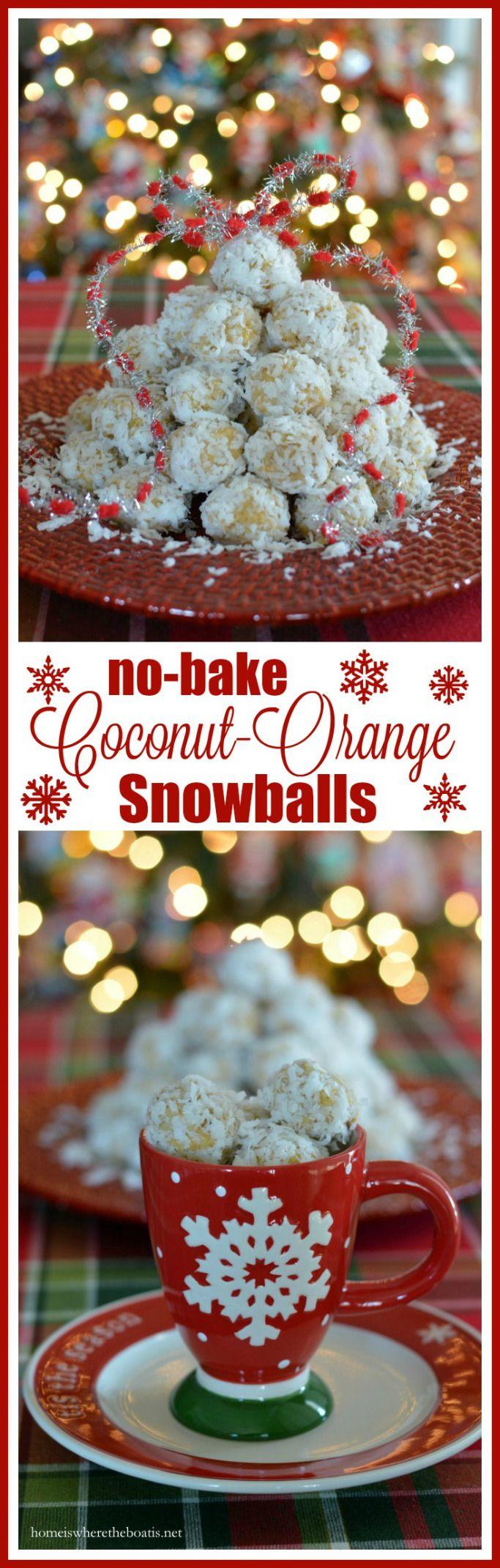 No-Bake Coconut-Orange Snowballs