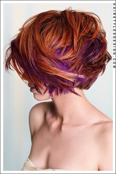 Deeper reddish brown and definitely want the purple goin' on underneath... But am I so bold??? :)