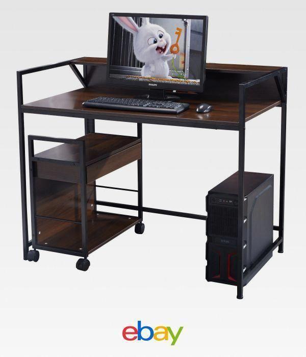 Computer Desk Workstation Table Study Home Office Furniture Wood W File Cabinet Homeofficecomputerde Home Office Furniture Office Computer Desk Computer Desk