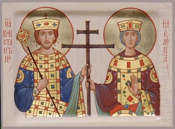 Handpainted icon of st Constantine and Helen            #CatalogOfGoodDeeds #icon #iconography #orthodoxicon #orthodoxiconography #buyicon #ordericon #iconographers #holytrinity #Handpainted #Saintconstantin #sainthelen