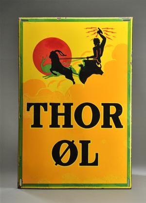 Thor Øl emaljeskilt