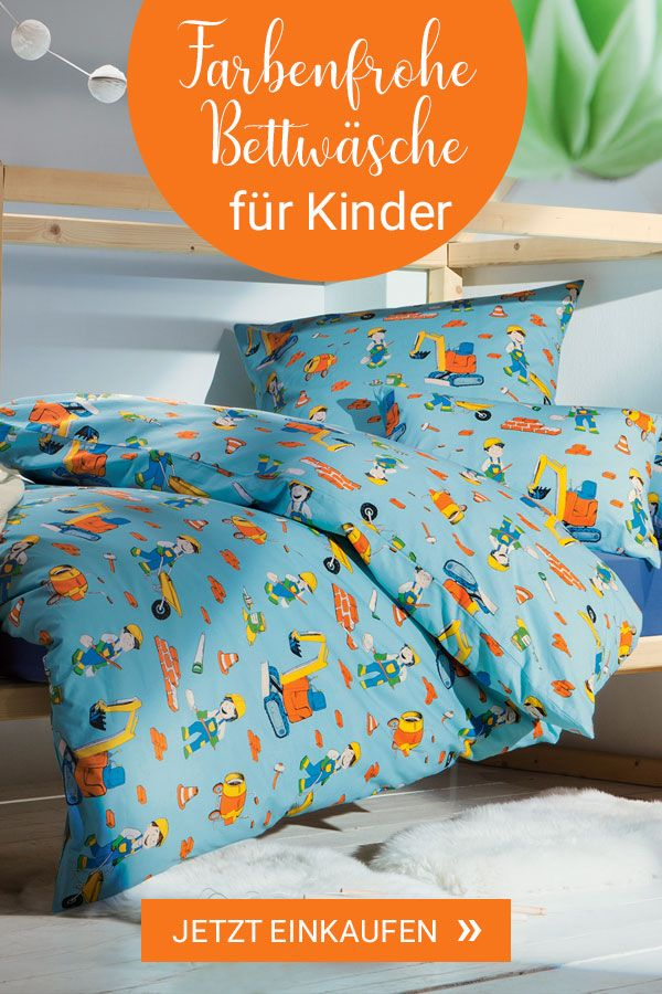 Renforce Kinder Bettwasche Baustelle In 2020 Bettwasche Kinder