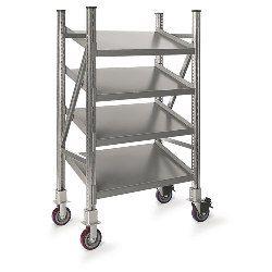 Mobile Tilted Shelf On-Line Shelving | SSI Schaefer