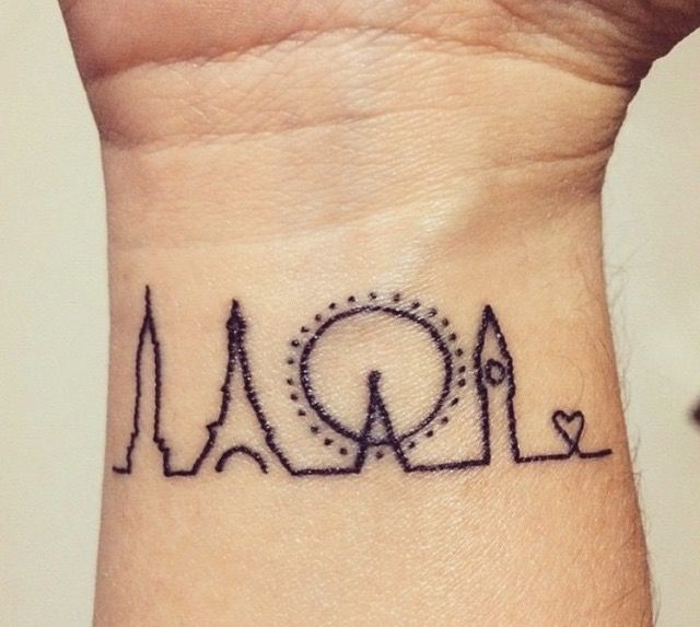 Loving  this idea of tattooing places.... trips..... memories.... like this