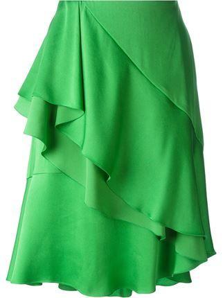 Lanvin юбка с рюшами
