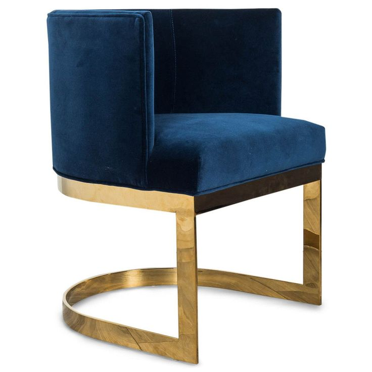 Ibiza Dining Chair In Navy Velvet