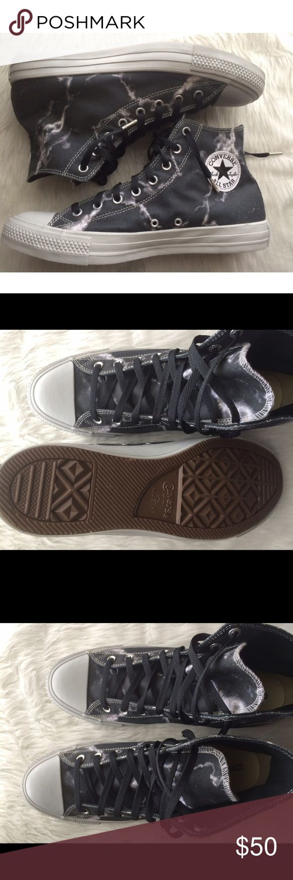 CONVERSE MENS SIZE 12 SHOES  HI TOPS Brand new without box. Shoes were custom made on the Nike website. Nike iD's. Converse Shoes Sneakers