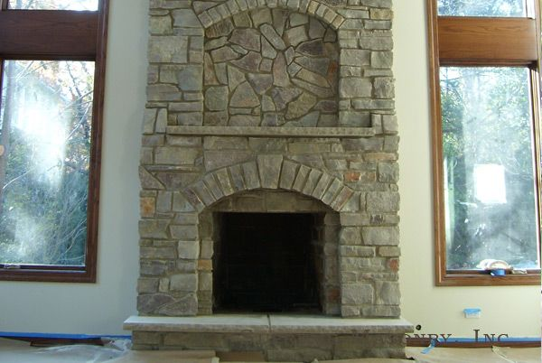 Natural Stone Fireplace I Like The Style Cottages Pinterest