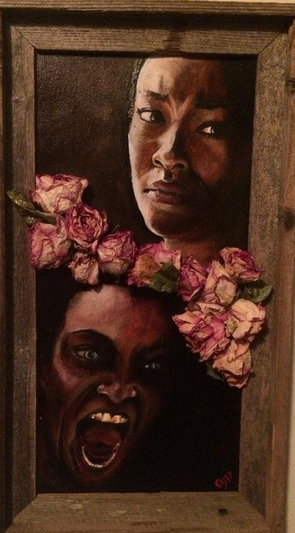 "My painting named ""My Sacrifice"". Oil on canvas with dead roses, 10 x 20. Spoilers if you haven't seen season 7. : thewalkingdead"