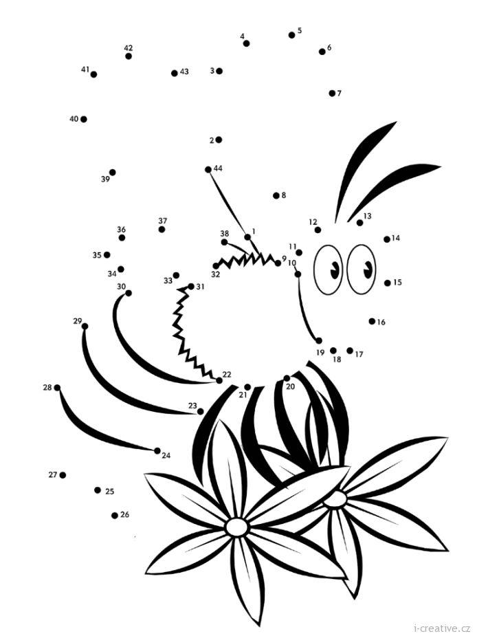 jarní pracovní list spojovačka včela