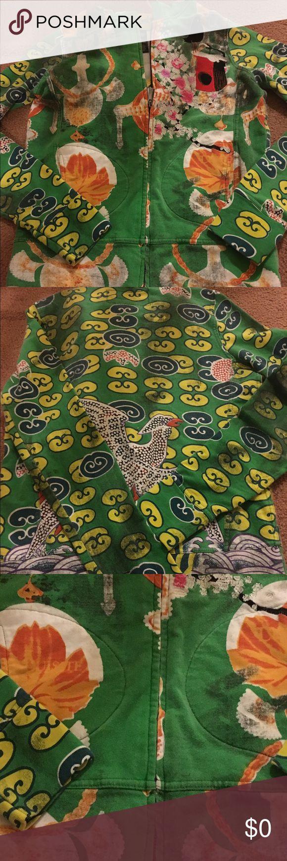 GUSTO Barcelona Fan hooded zip up GUC. Multi color zip up hoodie Custo Barcelona Tops Sweatshirts & Hoodies