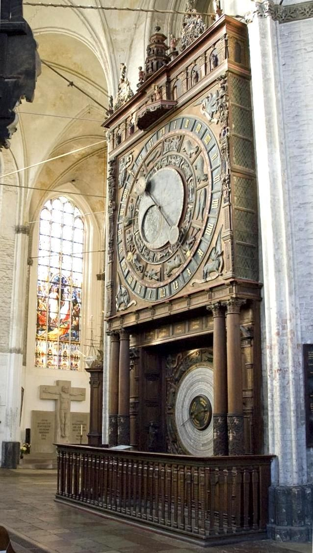 Astronimical clock in St. Mary's Church in Rostock, Germany From Wikiwand: