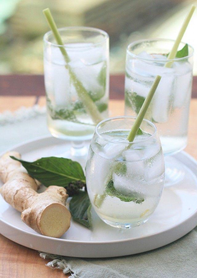 food + drink | ginger, lemongrass and thai basil sparkler | repine via: fork and flower