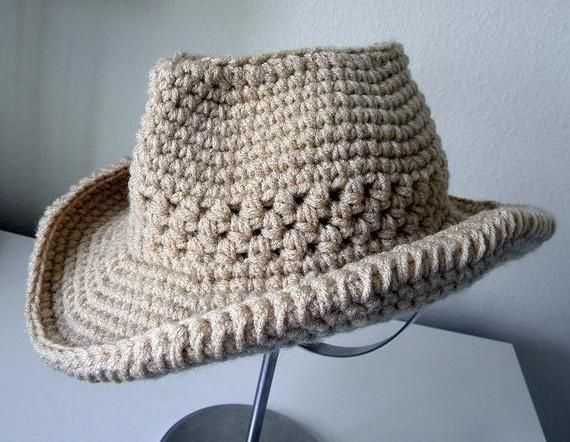 Cowboy Hat Crochet Pattern  I like the stitches in the middle!