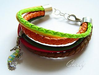 NEON Seahorse leather bracelet