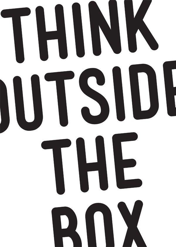 Quadro Think Outside The Box | Fábrica9
