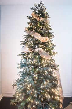 How to Put Ribbon Garland on a Christmas Tree | eHow                                                                                                                                                                                 More