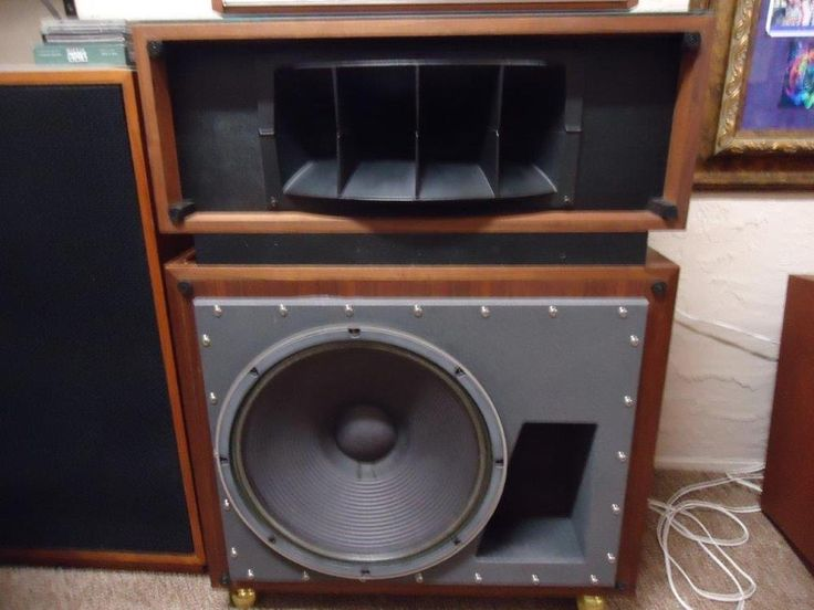 Pair Altec Lansing Model 19 speakers, with two new Crown amplifiers, #AltecLansing