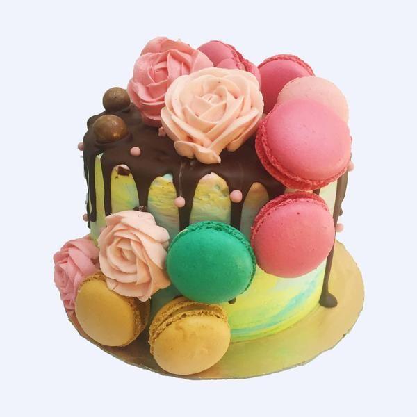 Monet-Antoinette Cake by Anges de Sucre #christeningcakes