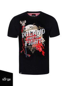 "Koszulka ""POLAND First To Fight"" czarna"