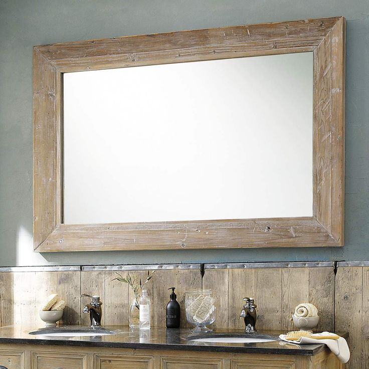 Miroir en bois blanchi H 200 cm CANCALE   Maisons du Monde