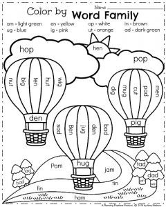 spring kindergarten worksheets - Colour Worksheets For Kindergarten