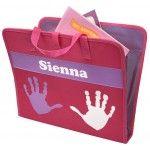 Personalised Pink & Purple Art Folder - Open
