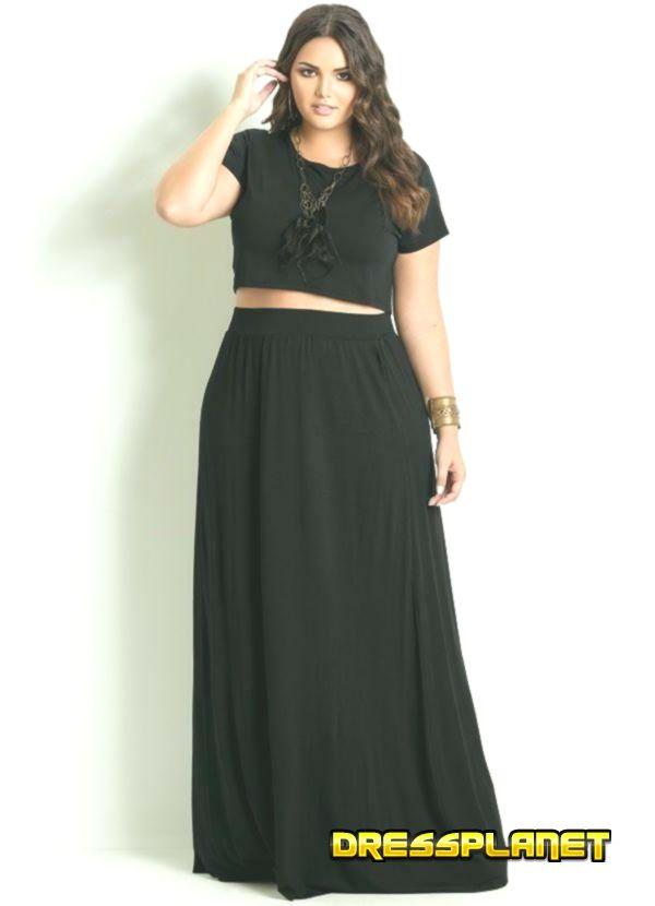 Kleider für Frauen 2019 – langer schwarzer rock mode für mollige junge damen #dressforwomen #dressforwomen2019 #womandresssuit