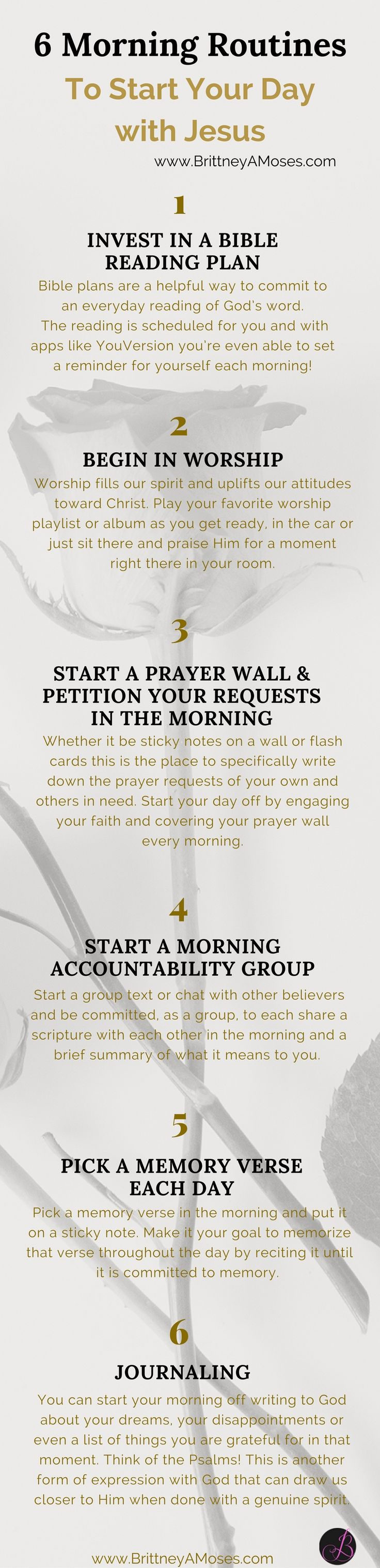 "READ: ""10 Morning Routines to Start Your Day with Jesus"" -Brittney Moses"